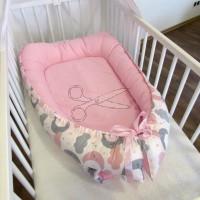 HNÍZDEČKO pro miminko - MĚSÍČEK a mrak růžový