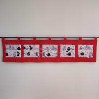 Kapsář za postel - KOČKA a MYŠ na červeném