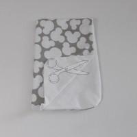 Přebalovací podložka 48cm x 78cm NEPROPUSTNÁ - MICKEY šedý