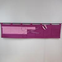 Kapsář za postel -  MOTÝL RŮŽOVÝ na fialovém