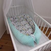 HNÍZDEČKO pro miminko s MINKY - PEŘÍ mentol