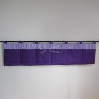 Kapsář za postel - PRUHY fialové tmavé
