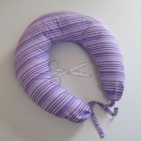 KOJÍCÍ POLŠTÁŘ - PRUHY fialové