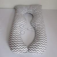 POVLAK na těhotenský polštář - CHEVRON šedý