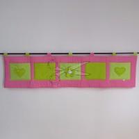 Kapsář za postel - KYTIČKA 3D růžová