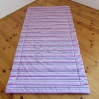 Přehoz na postel - PRUHY fialové