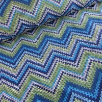metráž - SOFTSHELL - CIK CAK modrý  š.145cm