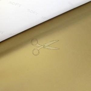 metráž - EKO-KŮŽE, KOŽENKA zlatá  š.140cm