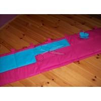 Kapsář za postel -  MOTÝL TYRKYSOVÝ na růžovém