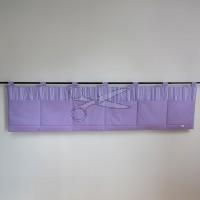 Kapsář za postel - PRUHY fialové světlé