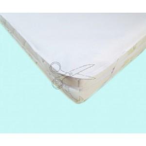 CHRÁNIČ matrace s GUMOU 160x200cm - JERSEY bílá