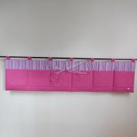 Kapsář za postel - PRUHY růžové