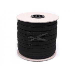 PRUŽENKA - GUMA prádlová 1cm ČERNÁ
